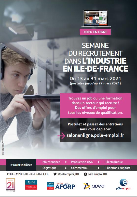 OPCO 2i - La semaine du recrutement dans l'industrie en Île-de-France